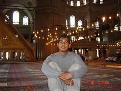 Ruang Dalaman Blue Mosque, Istanbul, Turkey