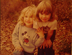 meg and amy in a ditch in iowa - by meg82skylark