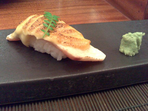 Seared swordfish with sweet miso mayo