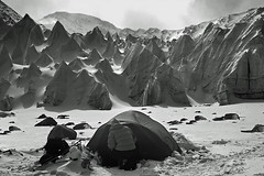 Alien landscape - Tibet (xtremepeaks) Tags: camp blackandwhite mountain snow mountains cold ice beautiful spectacular landscape other saveme saveme2 saveme3 deleteme10 alien free tibet glacier landing planet land himalaya 1000v100f himalayas freetibet pinnacles basecamp bigmomma shishapangma 1500v60f 3000v120f abigfave 19500ft youvsthebest favemegroup10 superfaveme thegalleryoffinephotography mountainsnaps thepinnaclehof motmjan11