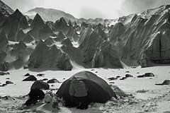 Alien landscape - Tibet (xtremepeaks) Tags: camp blackandwhite mountain snow mountains cold ice beautiful spectacular landscape other saveme saveme2 saveme3 deleteme10 alien free tibet glacier landing planet land himalaya 1000v100f himalayas freetibet pinnacles basecamp bigmomma shishapangma 1500v60f 3000v120f abigfave 19500ft youvsthebest favemegroup10 superfaveme thegalleryoffinephotography mountainsnaps thepinnaclehof motmjan11