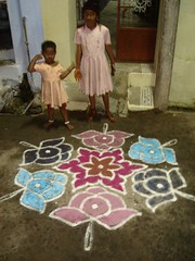 COLORFUL KOLANGAL AT EVERYONES RESIDENCES (G. Athimoolam) Tags: decorations ourlords blesings kolangal happypongal paintimngs