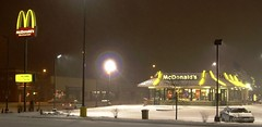 Snowing on McD's (presleym48) Tags: snow stpaul mcdonalds stpaulsnownight