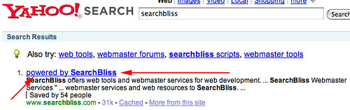 Yahoo Search Results for SearchBliss