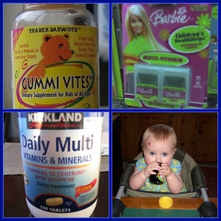 Images of children's vitamin preparations