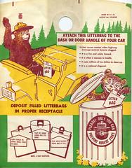 Smokey the Bear Litter Bag