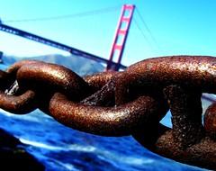 chain before bridge - by Darwin Bell