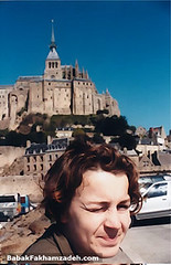 Julia in front of Mont Saint-Michel