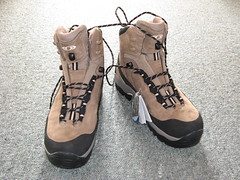 My shiny new tramping boots