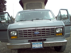 The beast (Christopher Busta-Peck) Tags: ford 1989 van rv camper econoline poptop e150 sportsmobile
