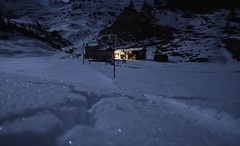 Cosy cottage (MoriMagic) Tags: winter snow night cottage cosy