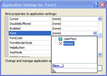 Binding a user setting to a property