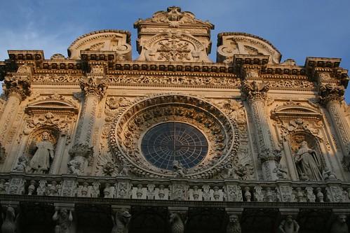 A bit of Santa Croce's facade, Lecce