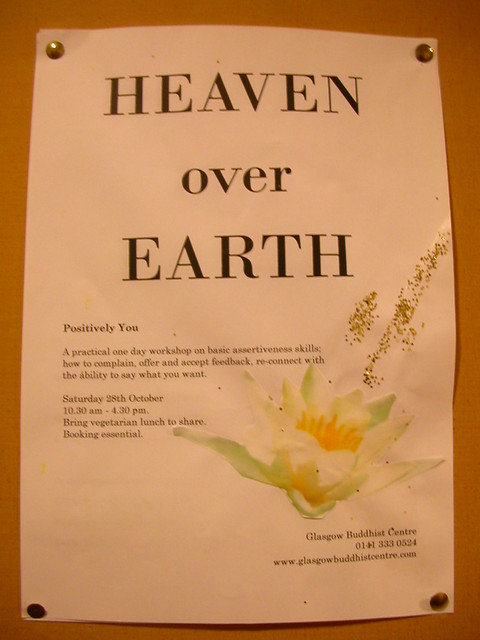 Glasgow 'Heaven Over Earth' poster