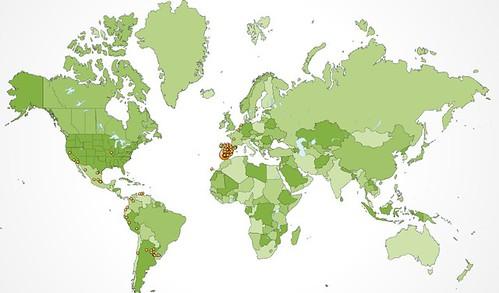 visitas de todo el mundo