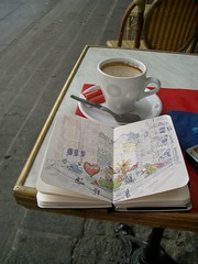 Paris Sketching (trumpetvine) Tags: travel paris art moleskine fountain pen ink watercolor sketch illustrated journal sketching sketchbook fountainpen pompidou stravinsky penandink travelsketching travelsketch illustratedjournal pandandink