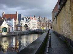 Brugge, el canal a punto de granizo