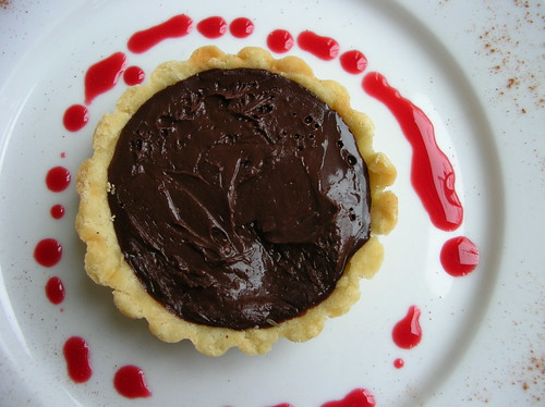 chocolate lavender tart