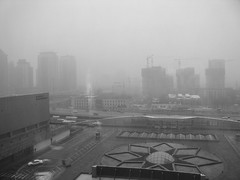 Beijing smog (kevin dooley) Tags: china weather fog smog day oneofakind beijing pollution weatherproject algore hotelwindow sars globalwarming co2 airpollution choking downtownbeijing badpicturetakingoutside chinaworldshopping kevindooley