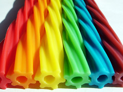 Rainbow Twizzlers (compscigrad) Tags: food rainbow colours candy vivid ~ twizzlers sweetcandy colorphotoaward