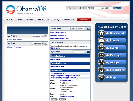 obama競選網站