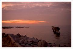 Purple haze at sunset (Angelrays) Tags: light sunset orange haze bravo purple hazy distant