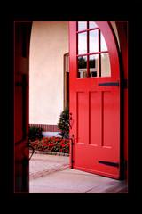 Open Door (DyeDye) Tags: door red nikon arch entrance nikond100 reddoor doorway archway exit d100 reddoorway