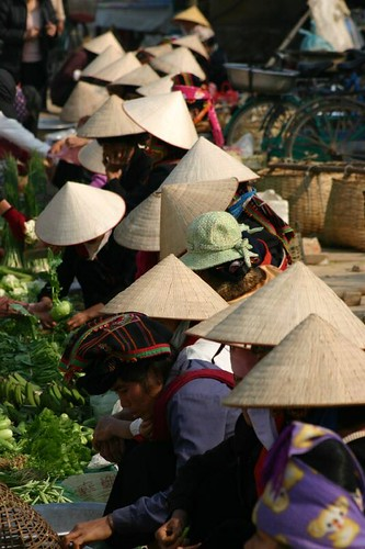 Dien Bien Phu Market. February 2007.