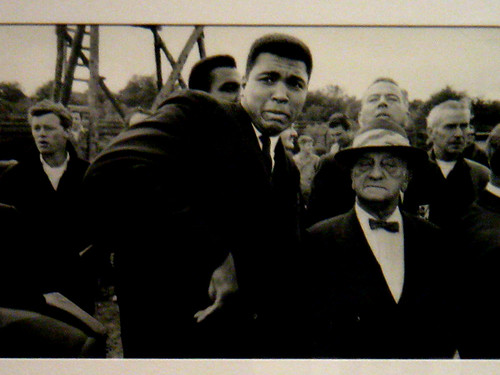 Muhammad Ali scared by a bee.