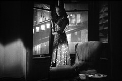 at the window (Dill Pixels) Tags: bw cinema classic film movie screenshot noir hollywood crisscross namethatfilm named 1949 filmnoir ntf yvonnedecarlo robertsiodmak