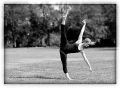 Tilt (BV Photography) Tags: park blackandwhite bw ballet white black ballerina bodylanguage tilt