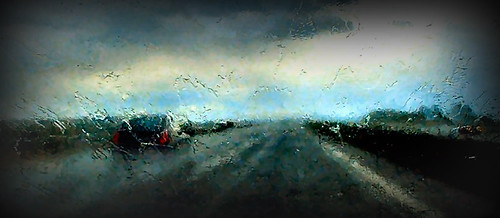 Driving rain - lomo technique