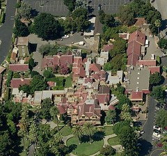 The sprawling home from above.