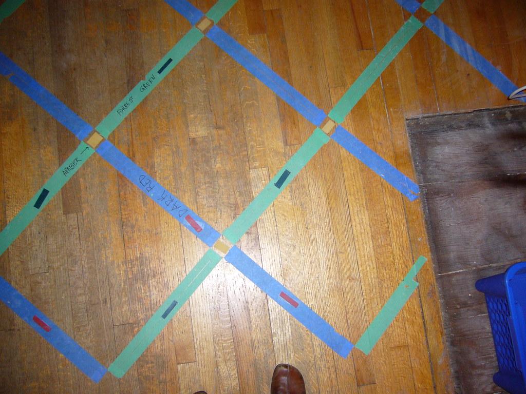 Overhead of kitchen floor