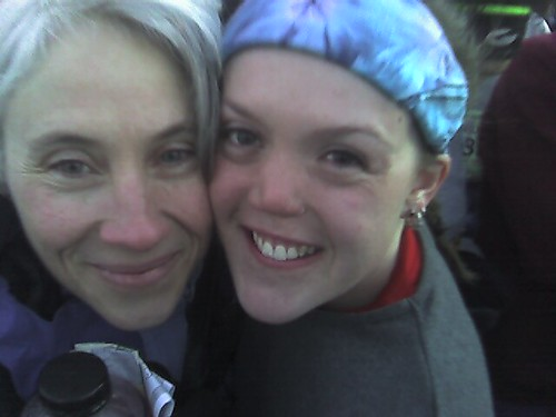 Mom and Mercedes before Marathon