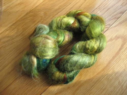 Dyed tussah silk from dbpg Spinning Wool, Fiber and Yarn