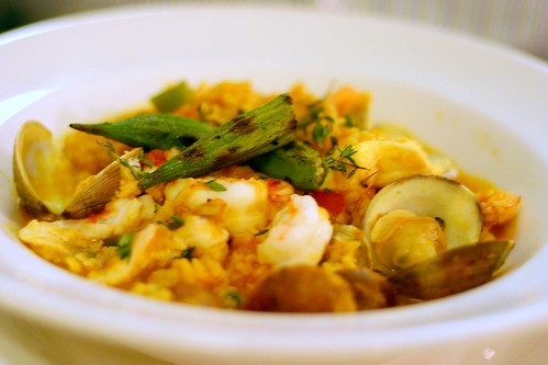 spicy savannah rice with seafood