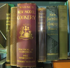 Old cookbooks at Crescent City Books