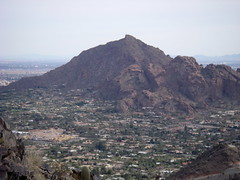 Camelback Mountain - popular hiking spot in Phoenix - Northside from unnamed Peak (Al_HikesAZ) Tags: park county arizona mountain phoenix hiking az hike preserve camelbackmountain hikes camelback paradisevalley maricopa maricopacounty phoenixmountainpreserve phoenixmountainspreserve azhike alhikesaz