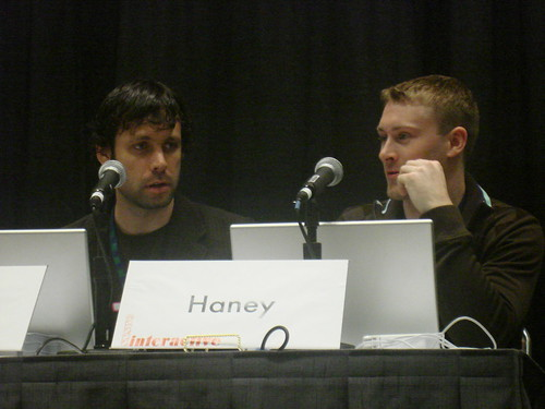 Dan and Pat at their panel