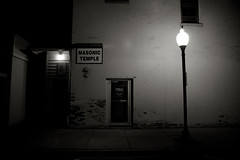 masonic noir (Joe Thorn) Tags: night temple blog noir geneva mason il masonic foxvalley genevaillinois
