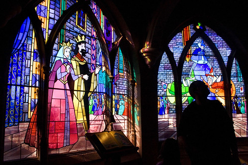 stained glass windows in castle