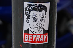 Betray - Gavin Newsom (Steve Rhodes) Tags: sanfrancisco sticker obey after shepardfairey newsom sfist betray gavinnewsom upcoming:event=167778