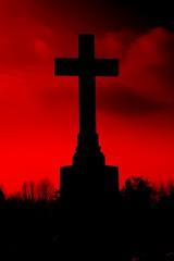 Scream ... (Ewciak & Leto) Tags: red sky black dark sadness twilight heaven 500v20f darkness cross gothic scream nightmare canoneos350d 250v10f v401500 v101200 v76100 v501600 v601700 v701800 v201300 castlesdreams v301400 v801900 v9011000 v10001250