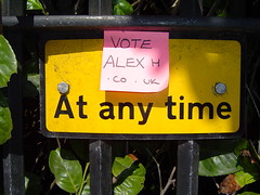 VoteAlexh.co.uk at any time