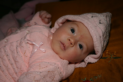 Baby in Armenian Knit Outfit