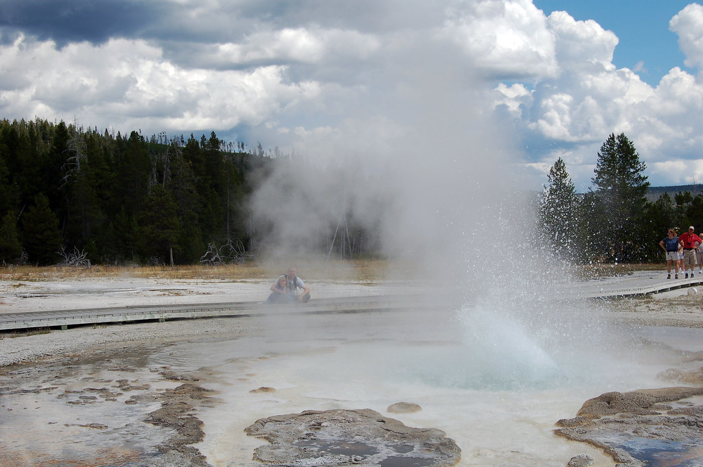 Sawmill Geyser with Us Behind