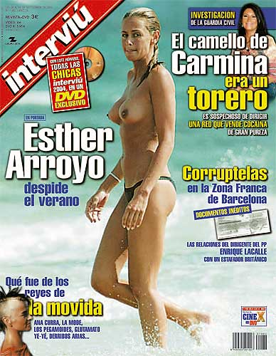 Esther Arroyo top-less en interviú