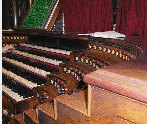 St. Sulpice Pipe Organ Console, Paris France
