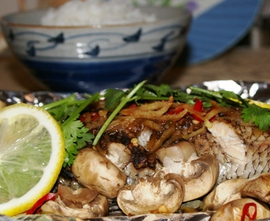 Steamed Barramundi